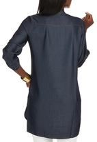 G Couture - Tencel Shirt Mid Blue