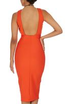 STYLE REPUBLIC - Open Back Bodycon Orange