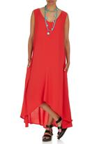 HABITS - Sleeveless Panel Dress Coral