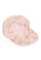 edit - Swallow Print Flatbill Cap Pale Pink