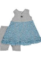 Just chillin - Lace Legging & Dress Set Multi-colour