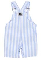 Just chillin - Striped Dungaree Mid Blue