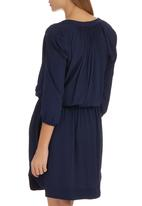 Sitting Pretty - Gambia Shirt Dress Navy