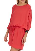 Sitting Pretty - Lesotho Batwing Shift Dress Coral
