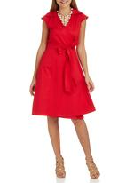 edit - Structured Wrap Dress Red