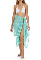 Lithe - Sarong with Bobble Trim Green