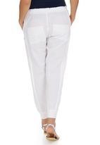 JUST CRUIZIN - Cuffed Pants White