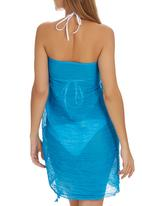 Lithe - Sarong with Bobble Trim Mid Blue