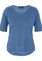 c(inch) - High Low T-shirt Pale Blue