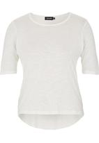 c(inch) - High Low T-shirt White