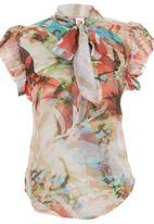 Sober - Petal Bow Blouse Multi-colour