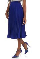 edit - Pleated Skirt Cobalt