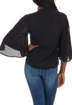 SOVIET - Delray Chiffon Shirt Black