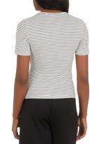 edit - Stripe Basic T-shirt Black and White