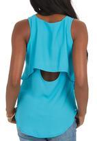 SOVIET - Qatar Sleeveless Cami Turquoise