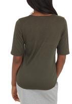 c(inch) - High Low T-shirt Dark Green