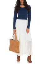 edit - Pleated Maxi Skirt Ivory