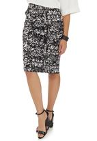 adam&eve; - High-waisted pencil skirt Black/White