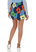 Suzanne Betro - Flower-print Mini Skirt Multi-colour  Multi-colour