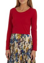 Suzanne Betro - Long-sleeve Crop Top Red Red