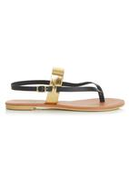 edit - Colour Block Sandals Black