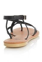edit - Cross Over Backstrap Sandals Black