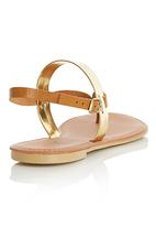 edit - Colour Block Sandals Camel/Tan
