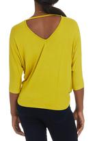 STYLE REPUBLIC - Cross Over T-shirt Chartreuse