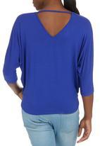 STYLE REPUBLIC - Cross Over T-shirt Cobalt