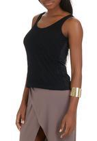 STYLE REPUBLIC - Lace Cami Black