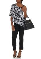 edit - Asymmetrical One-shoulder Top Black and White