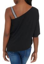 edit - Asymmetrical One-shoulder Top Black