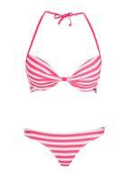 KANGOL - Candy Stripe Bikini Set Coral