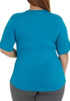 STYLE REPUBLIC - Wrap Flared Tee Mid Blue