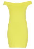 c(inch) - Bodycon Dress Yellow