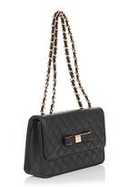 Vikson  - Quilted Shoulder Bags Black