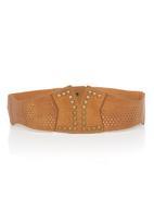 Fred Tsuya - Stud Detail Waist Belt Camel/Tan