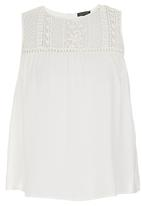 G Couture - Embroidered Lace Top Milk