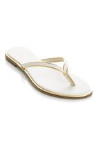 Awol - Basic Slip On Sandals White