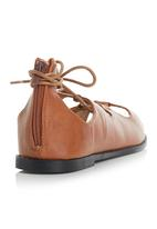 Awol - Lace Up Open Toe Sandals Camel/Tan