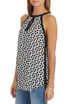 G Couture - Printed Tank Top Black and White