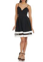 London Hub - Cami Skater Dress Black