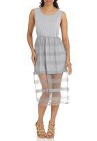 Suzanne Betro - Mesh T-shirt Dress Grey