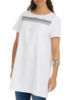 edit - Embroidery Tunic White