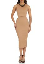 London Hub - Sheath Dress Camel/Tan