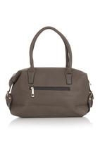 BLACKCHERRY - Barrel Handbag Grey
