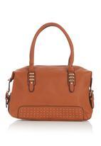 BLACKCHERRY - Barrel Handbag Camel/Tan