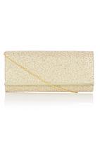 BLACKCHERRY - Flip Over Clutch Bag Gold