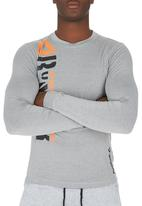 Reebok Classic - reebok Stronger Pd Ls Tee Grey