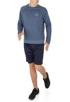 Lithe - Awesome Creative Agency - Long sleeve top with thumb inset Mid Blue